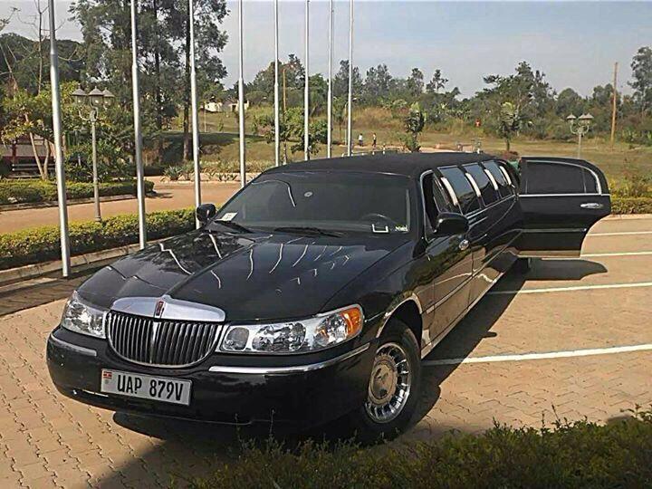 The black classic limousine from Wedding Car Hire Uganda