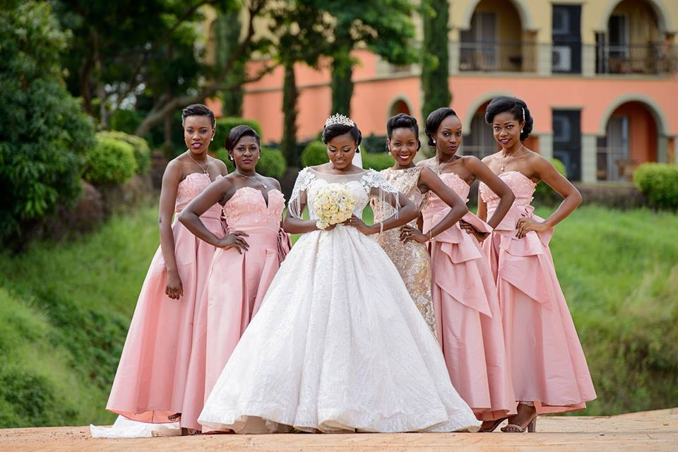 Jemimah and bridesmaids at during wedding photo shoot with Makula Pictures