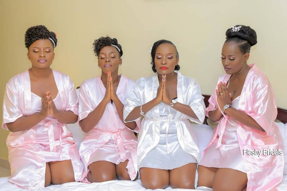 Bride robes with Flashy Bridals