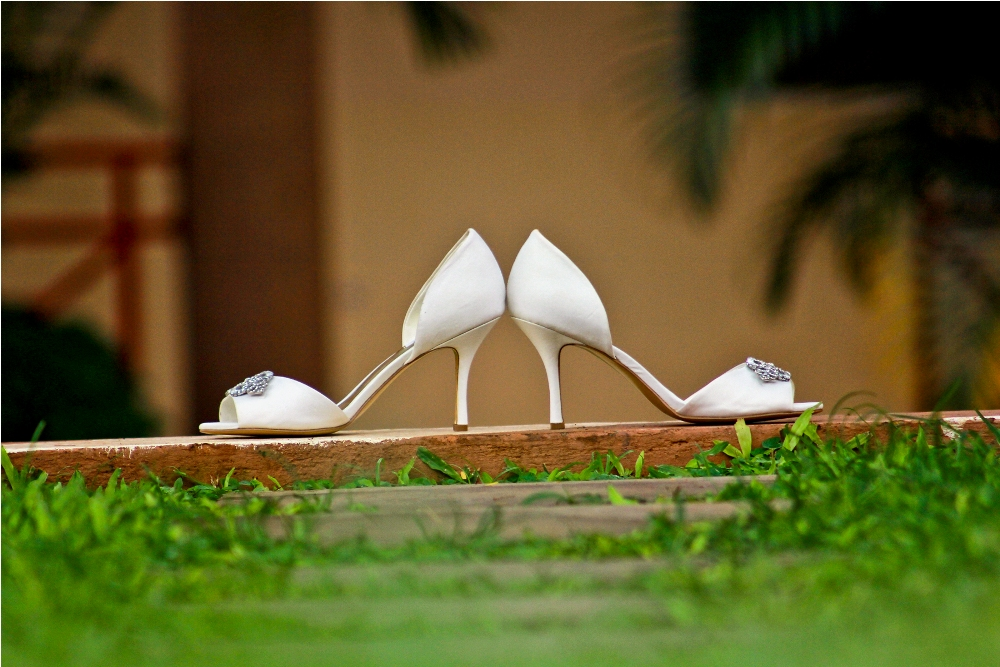 A pair of bridal shoes, shot by Katende Muhammad Photography