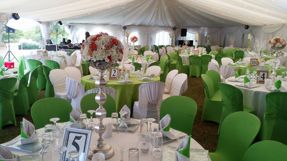Green theme Decor by Evannah Wedding & Events Specialists