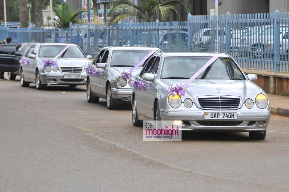 A fleet of the Mercedes Benz Bridal cars, Moonlight Wedding Consultancy Solutions