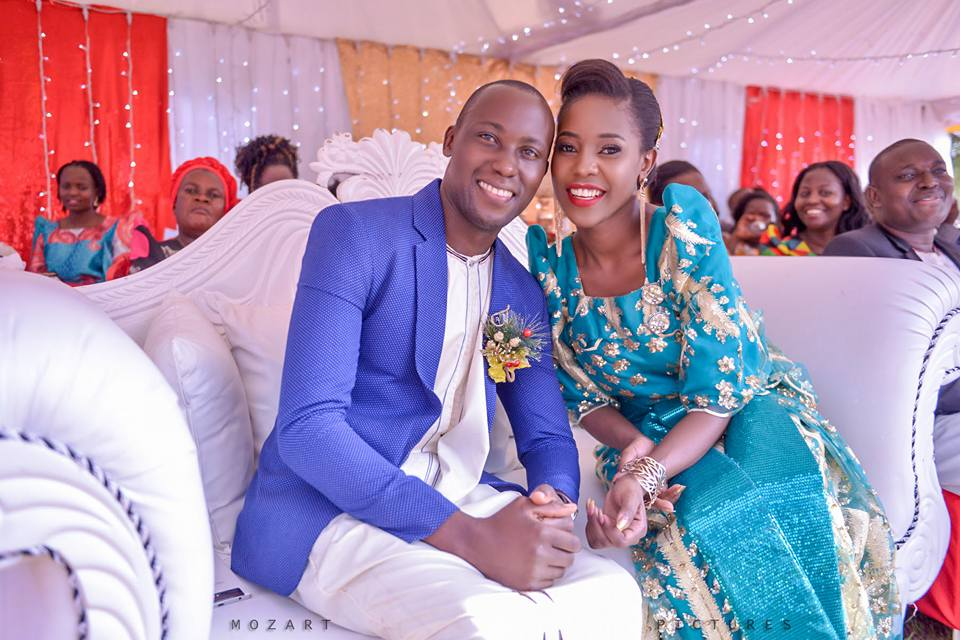 Mimi and Ssemakula at their customary wedding powered by Mozart pictures