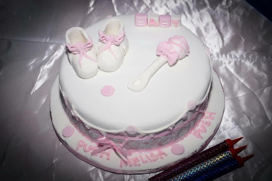Mellisa's baby shower cake at Tal Cottages