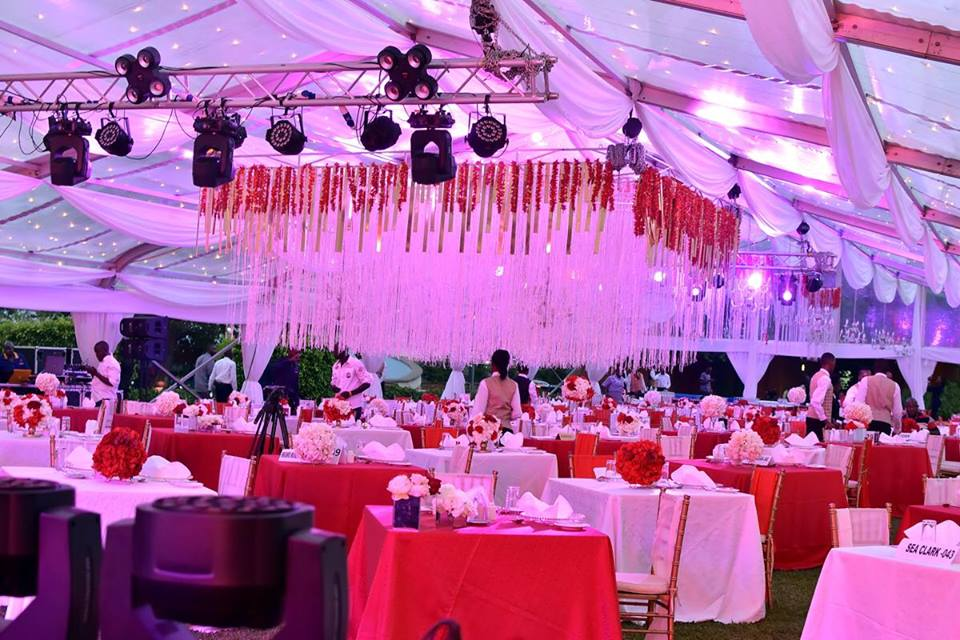 Toast to love, Valentines day decor by Icandy at Serena Hotel Kampala
