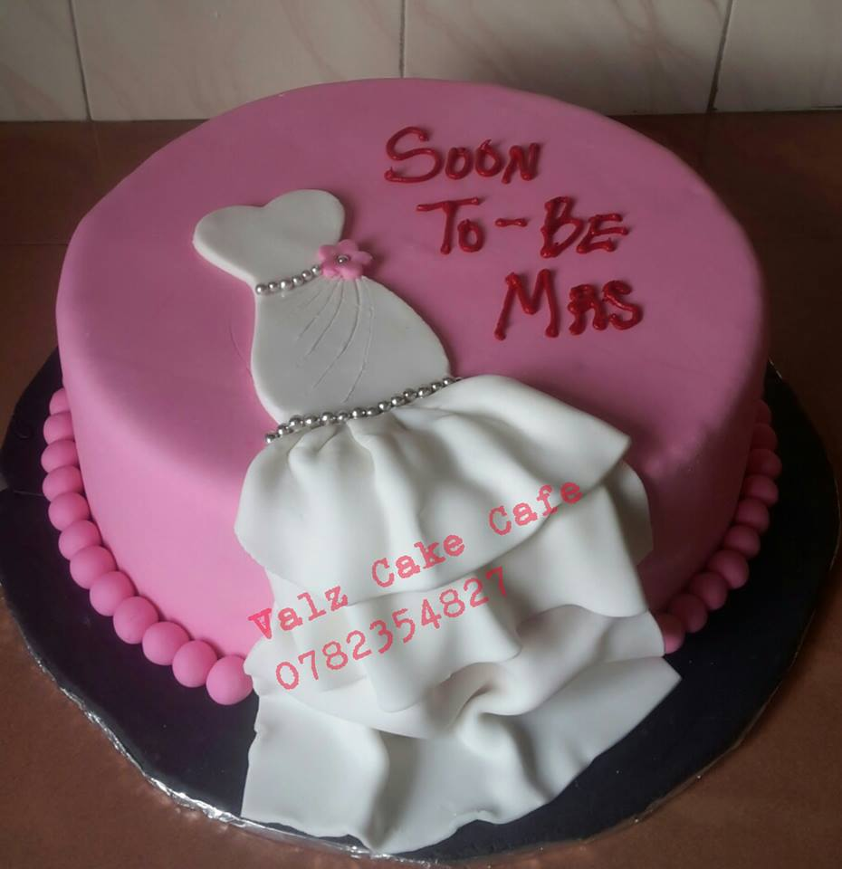 A bridal shower cake from Valz Cake Cafe