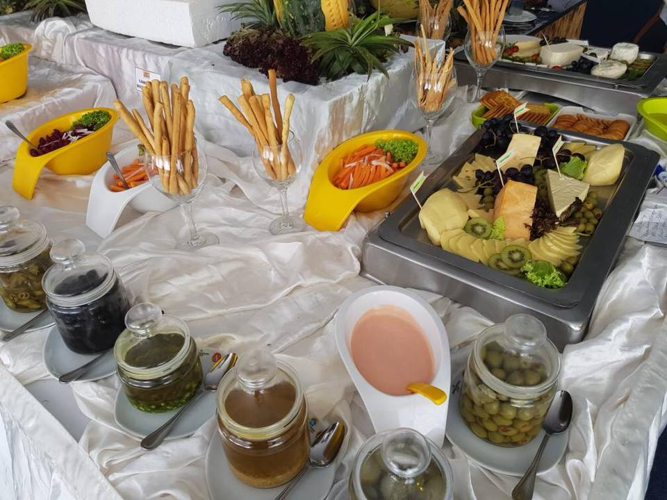 Salad & Dessert Setup