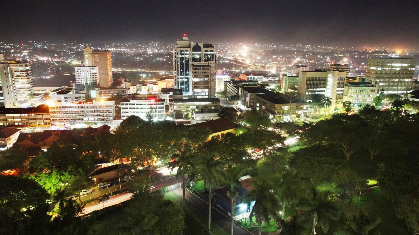 Sheraton Kampala Hotel City Night View
