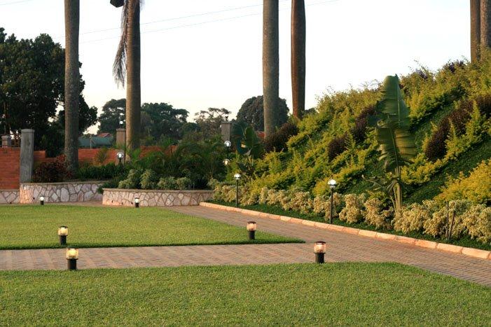 The green turf at Mawanda Royal Gardens