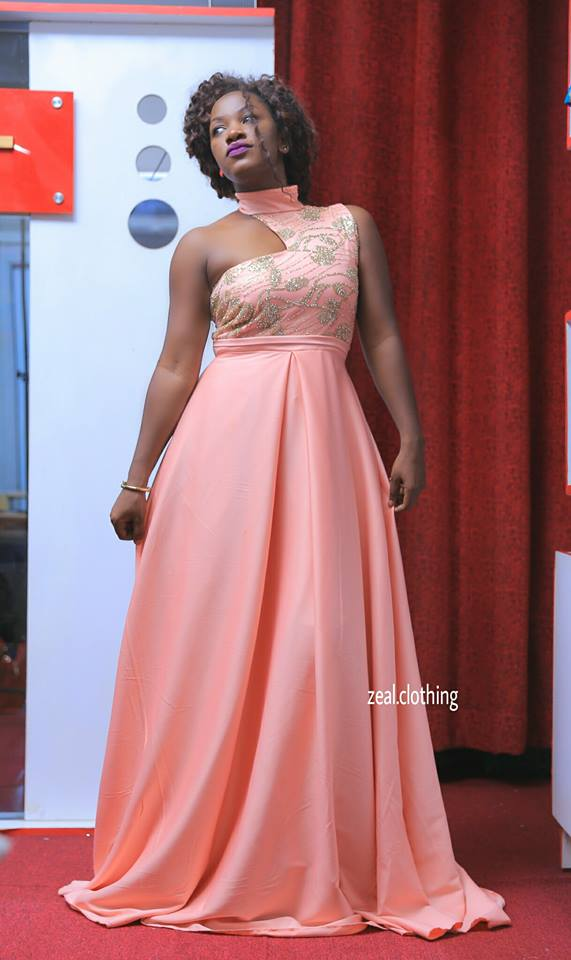 Sleek pink dress tailor made by Zeal Clothing
