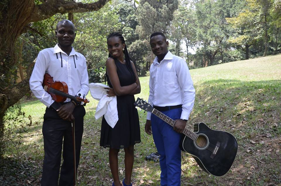 Member of The Tabs Uganda shortly before an event performance