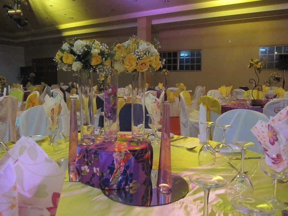 Yellow Theme Wedding Reception Decor