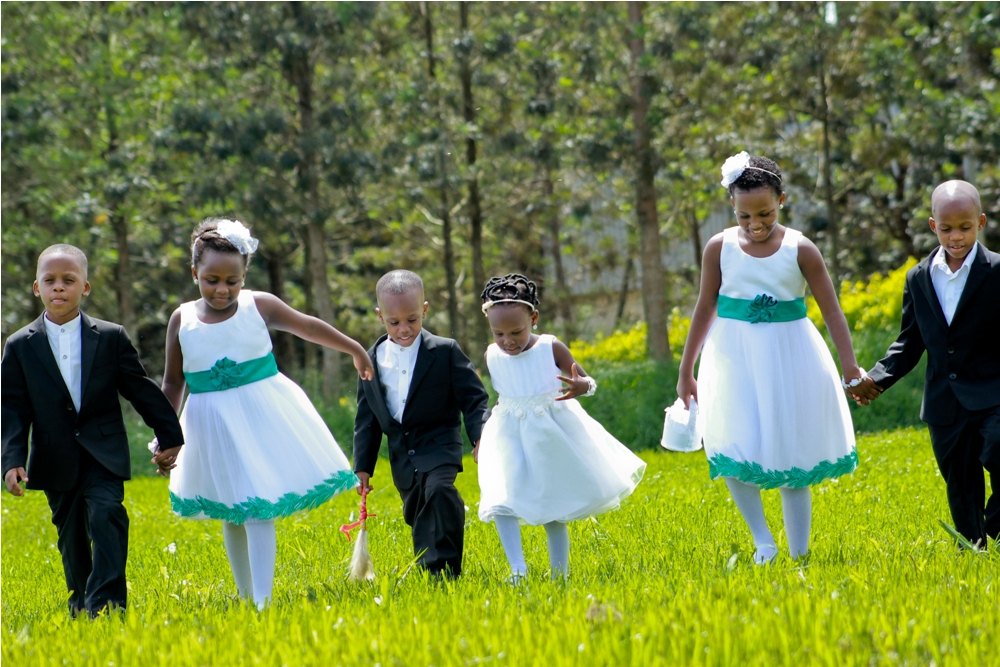 Beautiful Flower girls & handsome Pageboys at a Ugandan wedding Photo shoot by Katende Muhammad Photography