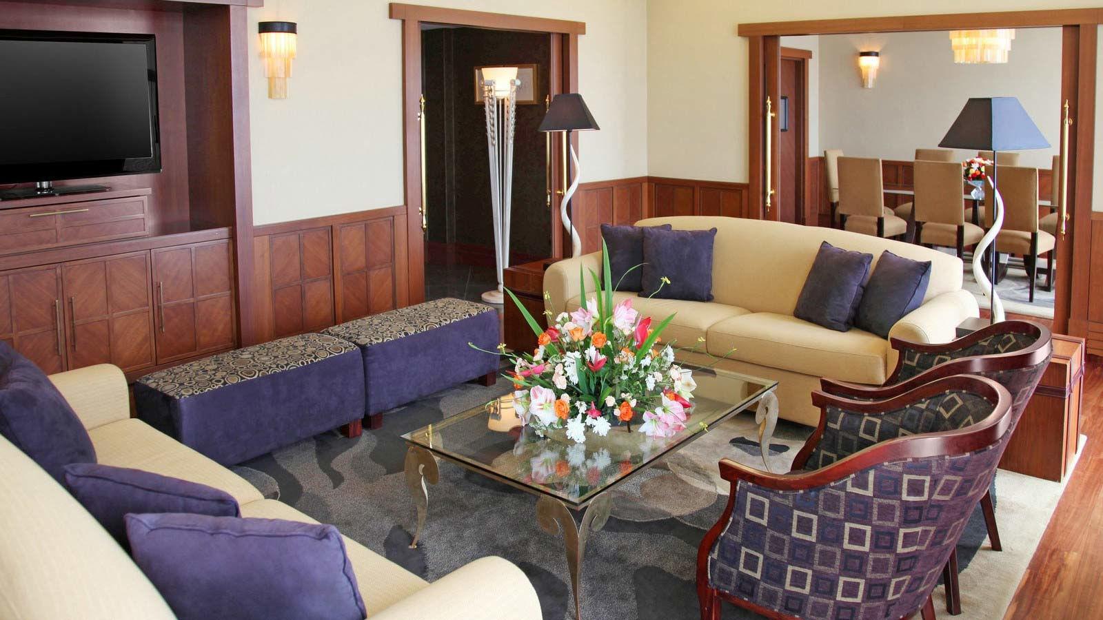 Sheraton Kampala Hotel Presidential Suite Living Room