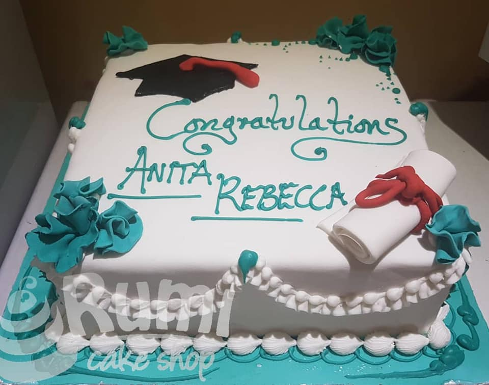 Anita Rebecca's graduation cake by Rumi Cake Shop