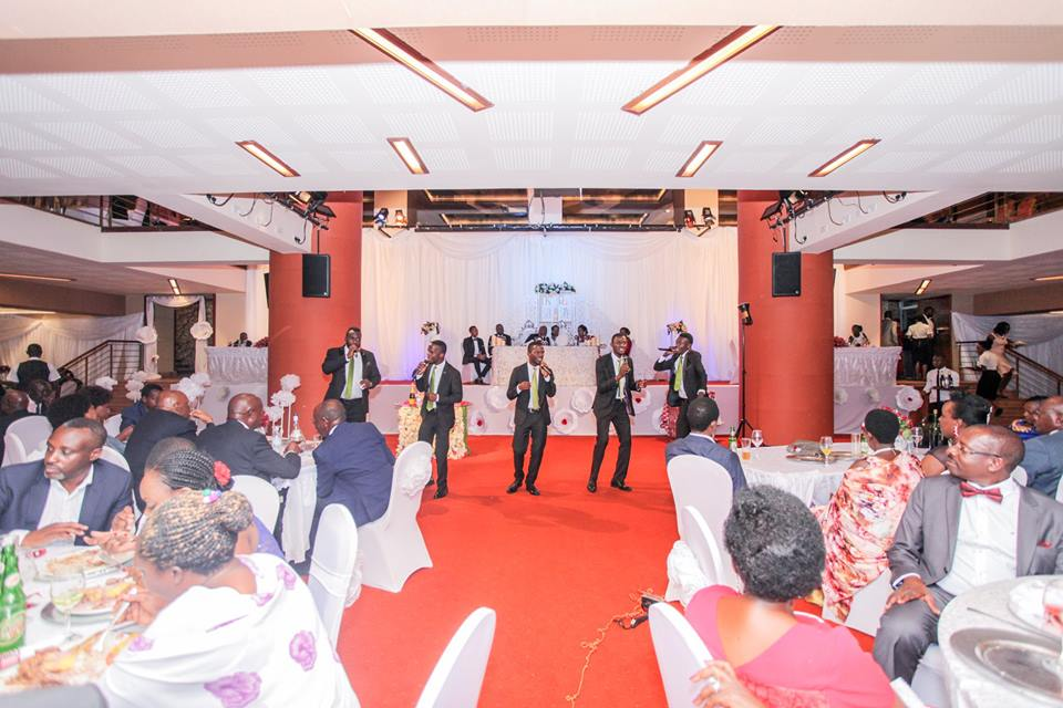 Canaan Gents performing at a wedding