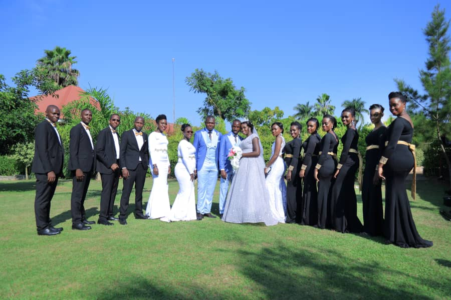 Anderson and Joy along with their bridal entourage, shots by Play Motions