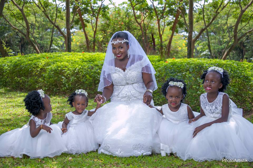 Anglyne and her young bridal party, shots by PhotoArtistik