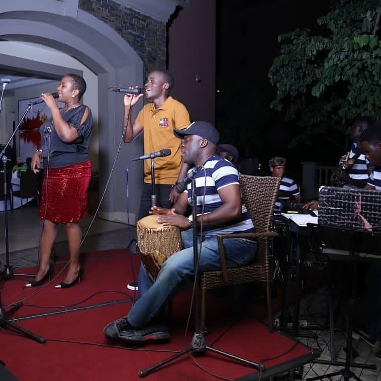 K'Angie Band performing at Mestil Hotel