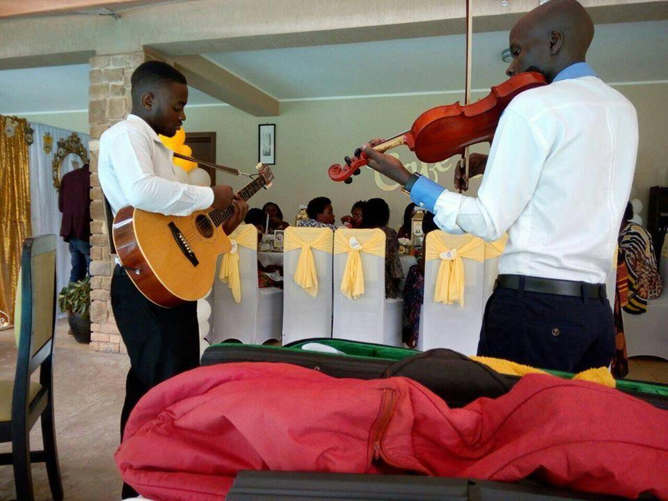 The Tabs Uganda performing at a small party in Kampala