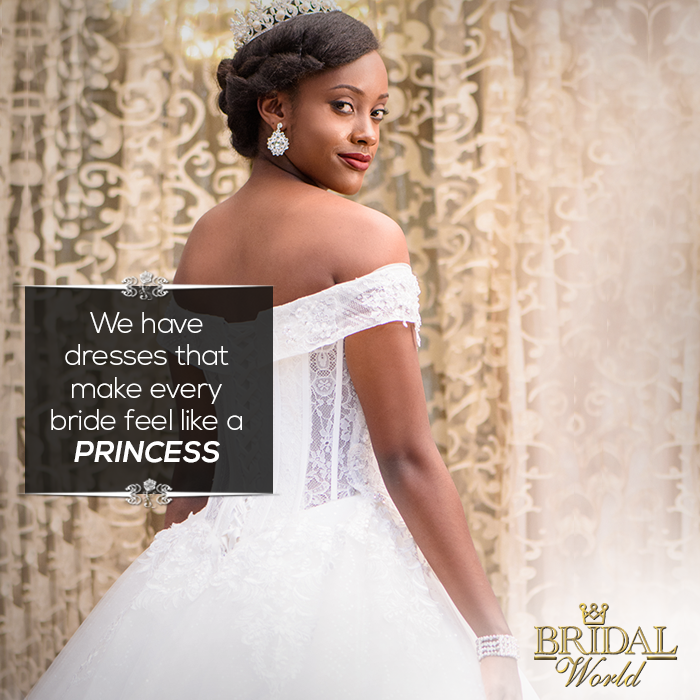 We have dresses that make every bride feel like a PRINCESS. Book your appointment with us