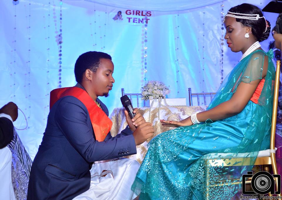 A bride & groom at their customary wedding powered by Alexander Photography