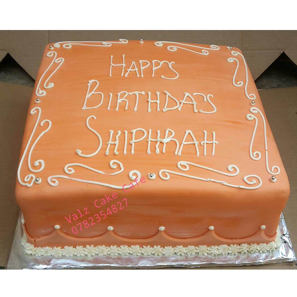 Shiphrah's birthday cake made by Valz Cake Cafe