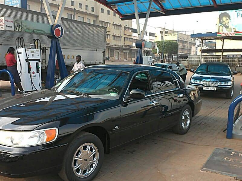 The black lincoln car from Wedding Car Hire Uganda