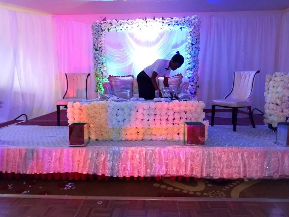 Wedding high table decorations by Mugagga Events