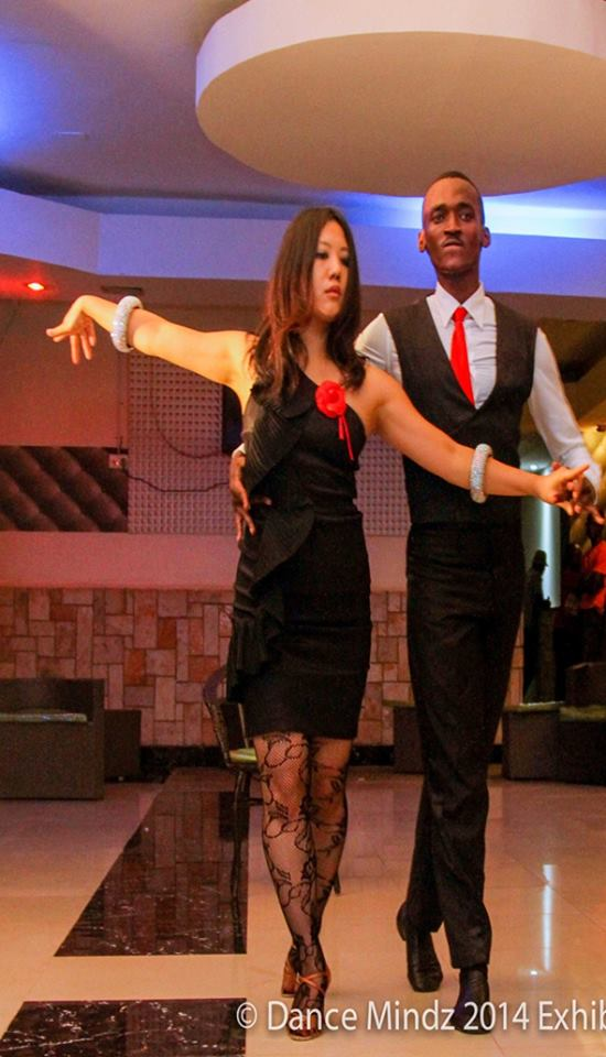 Experts from LRhythm showcase their dance moves during the Dance Mindz 2014 Exhibition in Kampala