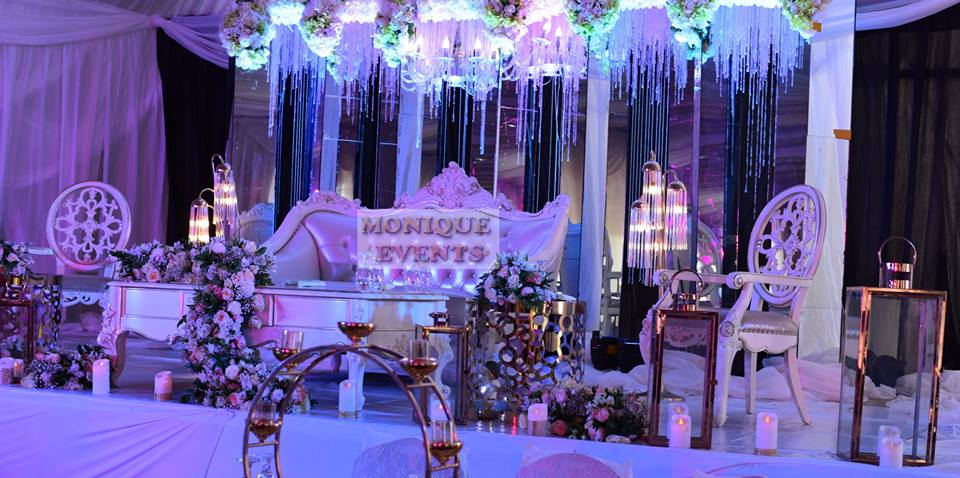 Wedding high table decor setup by Monique Events Uganda