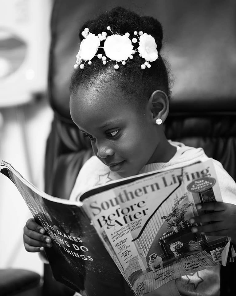 A beautiful flower girl during a salon session, shots by Nelly Salvatore Photography