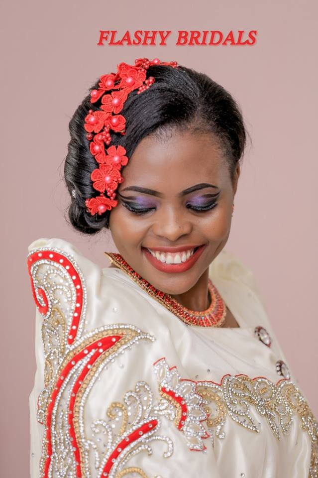 Barbara's Rocking In Gold and Red Gomesi on her Kwanjula of-course Dressed by Flashy Bridals