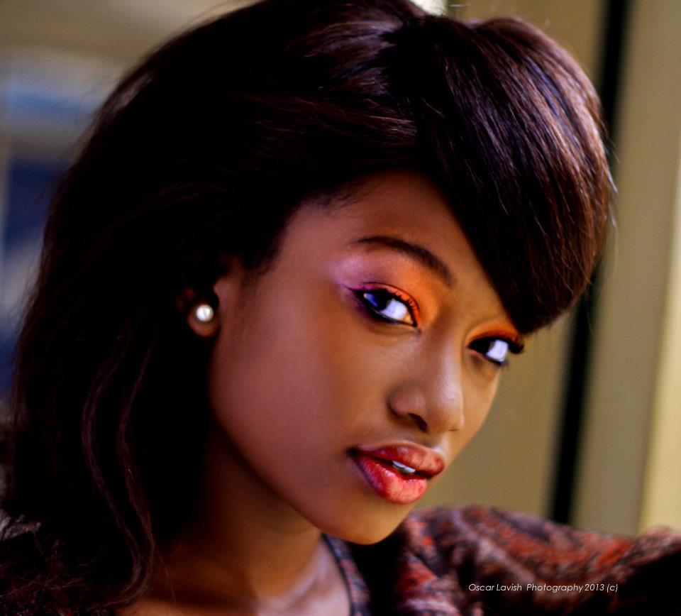 Ugandan model Blythne Patience Rae, make by Surayah Bridal Makeup