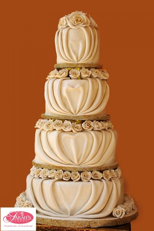 Beautiful wedding cake from Sarahs Cakes