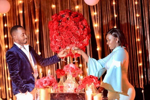 Lincoln surprised his queen on valentines day at Kampala Serena Hotel