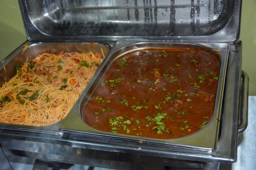 Spaghetti & Vegetable sauce