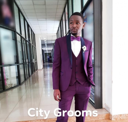 A three piece tuxedo from City Grooms