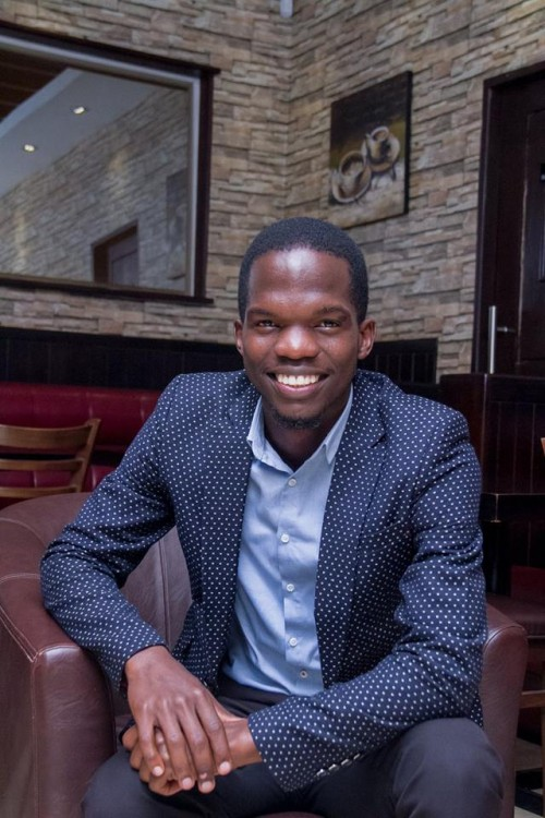 Wasswa Elijah Kissiti, a team member of Canaan Gents