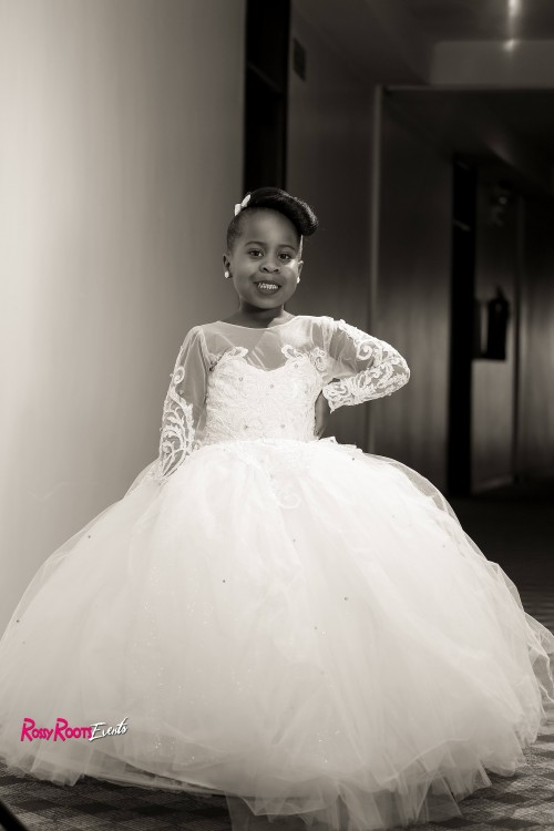Christine's beautiful flower girl, dressed by Bloodworth, Photo by Rossy Roots Events