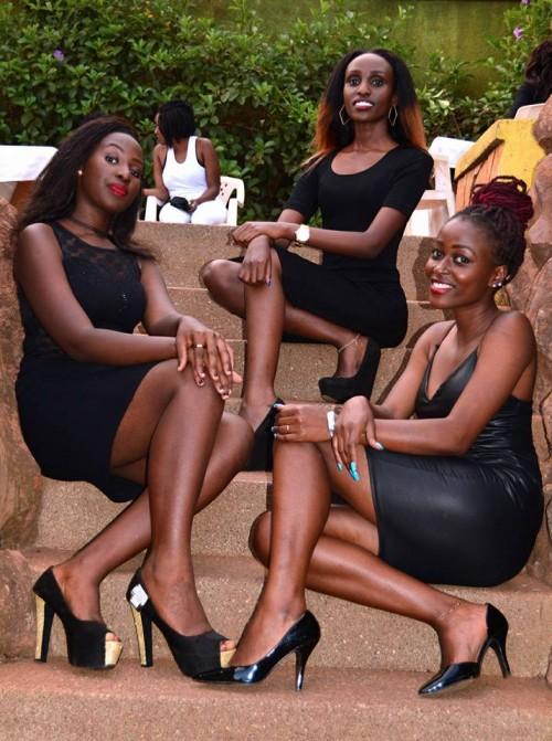 Sleek Ushering Agency ladies in black dresses
