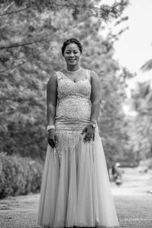 TV & Radio presenter Sharitah Mazzi Mawanvu dressed by City Bridals