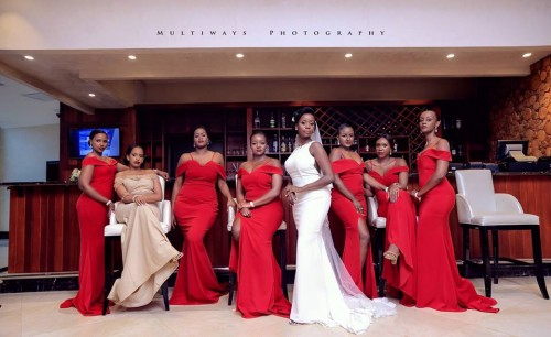 Chomba the bride and her crew do the bar shot with MultiWays Photography