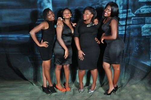 Wonderful ladies of the Derfynation Ushering Team in black dresses