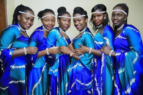 Anitah's elegant bridesmaids, shots Vision Digital Images