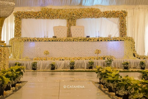 The Ivans Wedding reception Decor by Catahena
