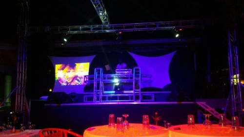 Event venue lighting by Extreme Music and Events
