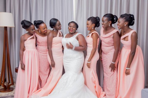 Praise and her maids at Golden Tulip Canaan Kampala, photo by Genius Media Events