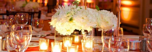 Led candle table decorations by Angie Events