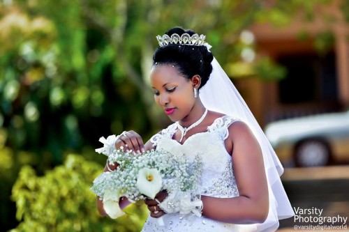 Prossy of Ndejje Senior Secondary School on her wedding day with Peter Paul , cover by Varsity Digital WORLD